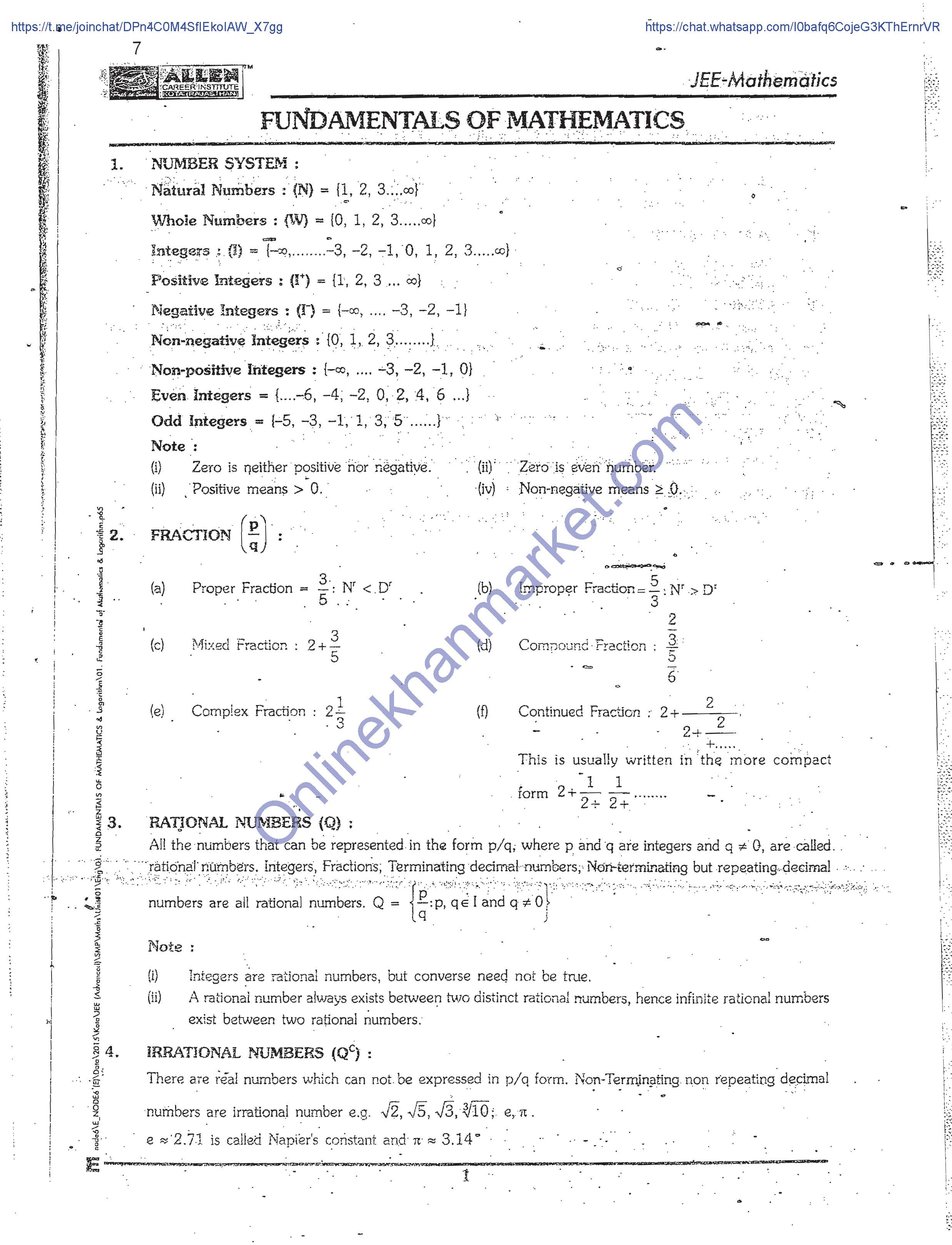 ALLEN-Best Study Material for IIT JEE Main+Advanced Downloaded version