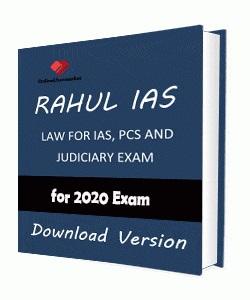 Rahul IAS Law Printed Notes